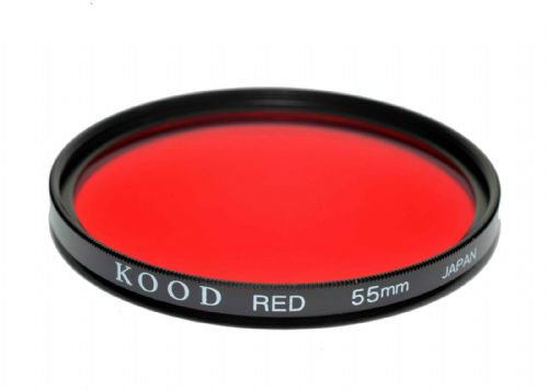 Kood High Quality Optical Glass Red Filter Made in Japan 55mm